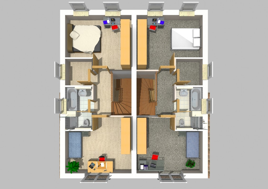 doppelhaus 01. Black Bedroom Furniture Sets. Home Design Ideas