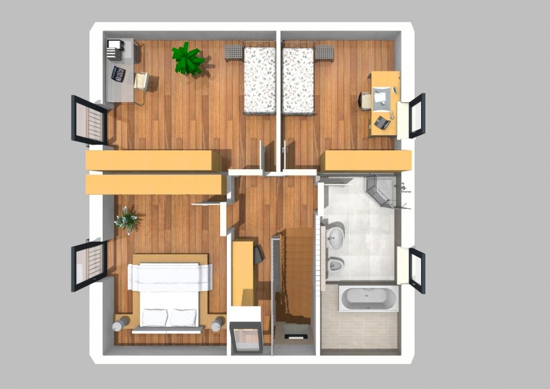 satteldach haus 376. Black Bedroom Furniture Sets. Home Design Ideas