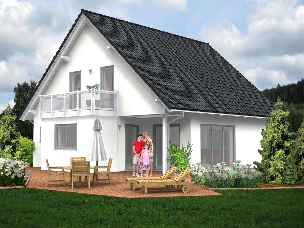 satteldach haus 52. Black Bedroom Furniture Sets. Home Design Ideas