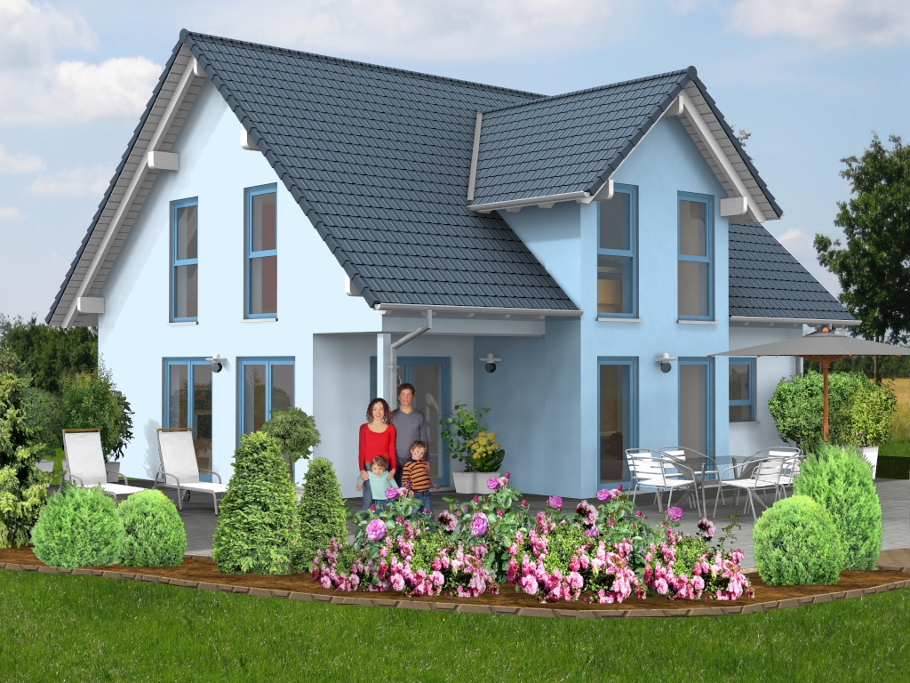 satteldach haus 56. Black Bedroom Furniture Sets. Home Design Ideas