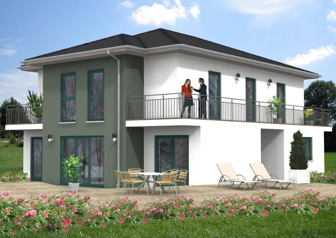 Walmdach haus 27 for Haus mit doppelgarage bauen